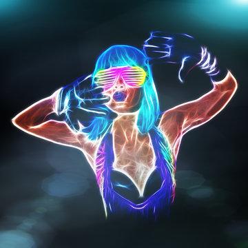 Sexy fiery gogo dancer fractal