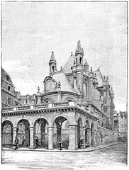 The temple of the oratory from the street of Rivoli, vintage eng