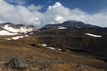 Kamchatka volcanic landscape: view of active Mutnovsky Volcano