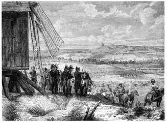 Battle of Ligny, Napoleon gave his orders to attack, vintage eng