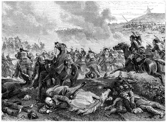 Pin the Battle of Ligny, Blucher overthrown by the charge of cui