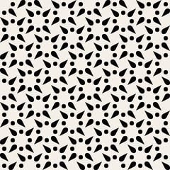 Vector Seamless Black and Wite Geometric Pattern