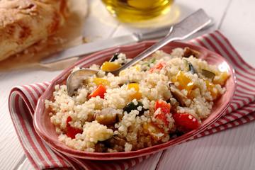 Modern vegetarian quinoa menu
