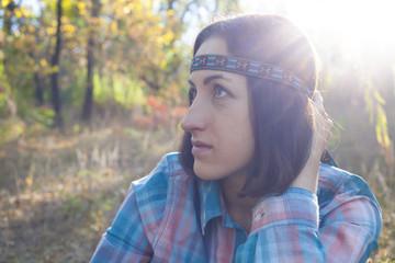 The girl hippie.