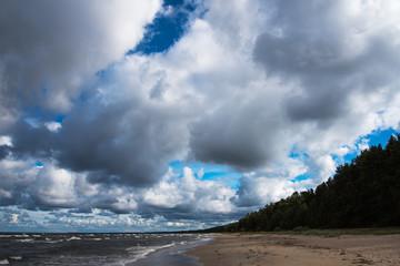 Foto op Plexiglas Inspirerende boodschap Dark Baltic sea.