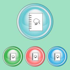 Ecology Icons Set, Line Art Style