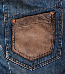 Blue Denim Texture, Background, Jeans, pocket.