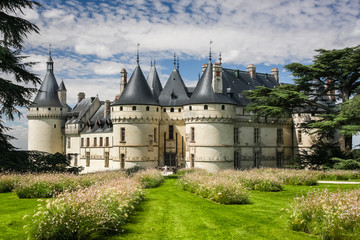 Canvas Prints Castle Chaumont castle in Loire Valley, France