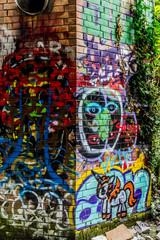 Graffitis dans la Faculté des Sciences abandonnée