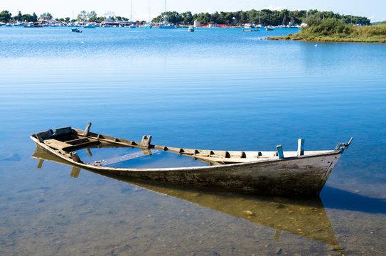 scuttled boat