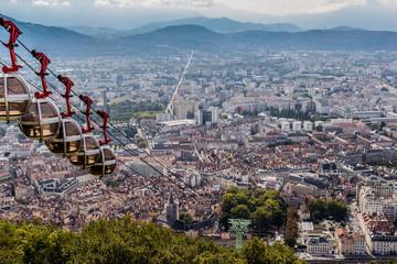Le téléphérique du Fort de La Bastille à Grenoble