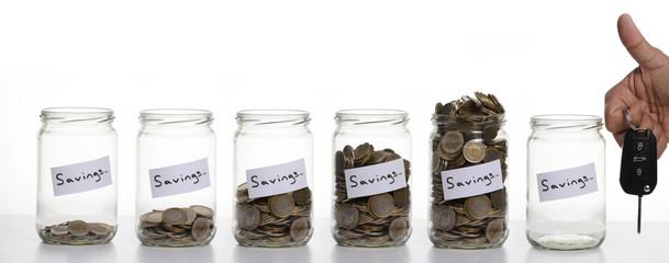 Savings / Take the car to save money.