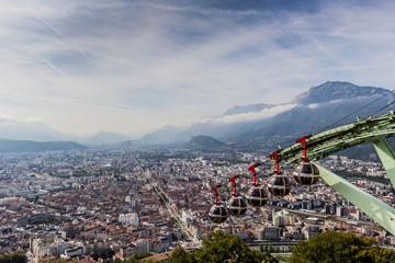 Arrivée du téléphérique du Fort de La Bastille à Grenoble