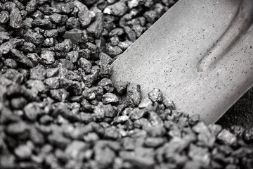 Coal mineral black cube stone