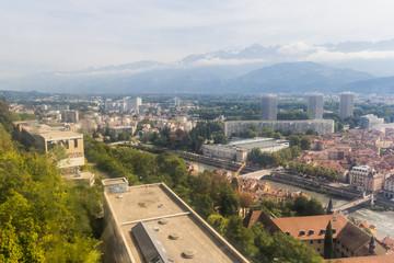 Faculté des Sciences vu du téléphérique du Fort de La Bastille