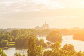 Belgrade, Serbia panorama.