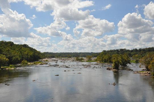 View from Belle Isle Bridge in Richmond, Virginia