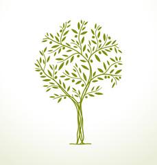 Tree icon. Vector element