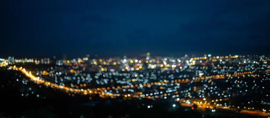 Blurred background Out of Focus City Lights, Bokeh