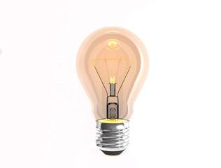 turn on tungsten light bulb