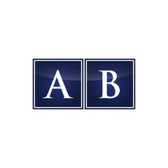 Letter Initial Logo AB
