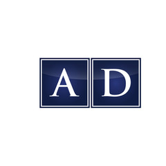 Letter Initial Logo AD