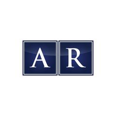 Letter Initial Logo AR