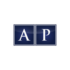 Letter Initial Logo AP
