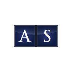 Letter Initial Logo AS