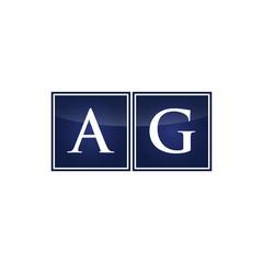 Letter Initial Logo AG