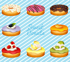 Different kind of donuts