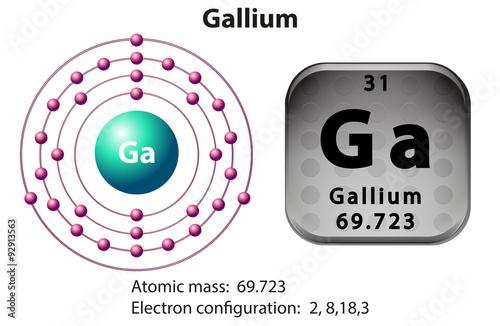 U0026quot Symbol And Electron Diagram For Gallium U0026quot  Stock Image And