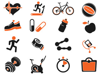 Set of  icons on fitness.