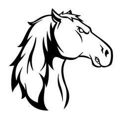 Horse symbol illustration