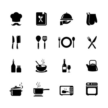 Set of Cooking icon. Kitchen icon. Vector. Illustration. EPS10