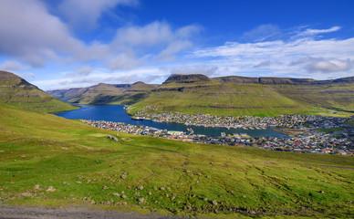 Wall Mural - City of Klaksvik on Faroe Islands, Denmark