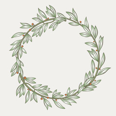 Laurel wreath 2 . Laurel wreath in vector.