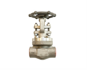 Industrial Pipe Valve on White background