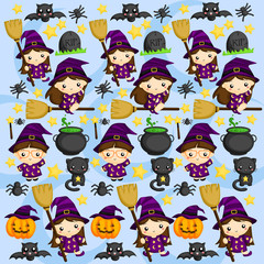 Halloween Witch Background