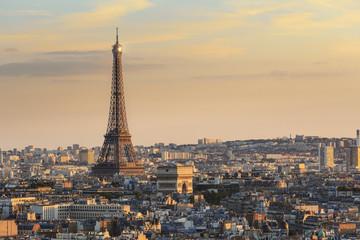 Tour Eiffel et Arc de Triomphe Paris