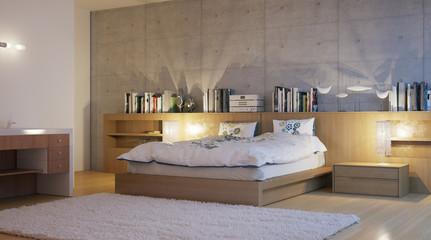 modern hotel room - modernes Hotelzimmer