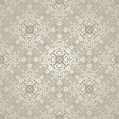 Vector seamless pattern with filigree ornament.