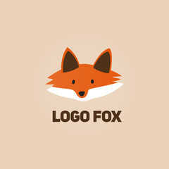 Logo Fox Face - Isolated Vector Illustration