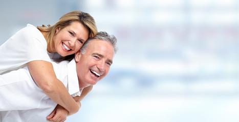 Happy senior couple portrait.