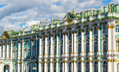 Details of the Winter Palace in Stain Petersburg - Russia