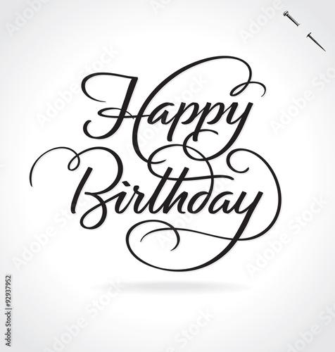 Quot Happy Birthday Hand Lettering Original Handmade