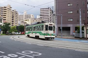 熊本市電のカーブ