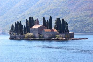 Our Lady of the Rocks, Montenegro. Kotor bay, Montenegro. Adriatic sea
