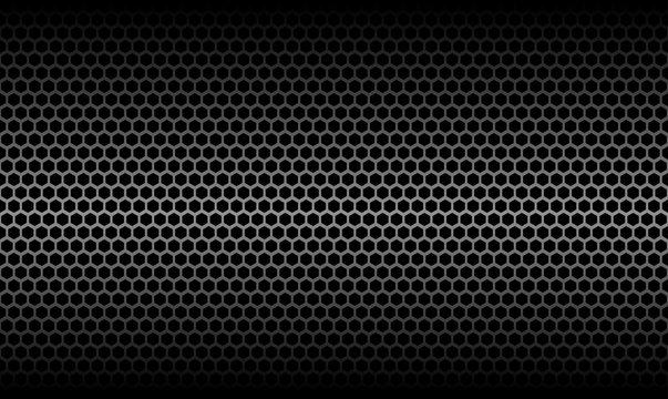 Dark Honeycomb Metallic Carbon Texture
