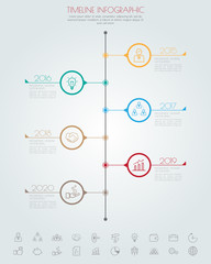 Business timeline. Can be used for workflow layout, banner, diag